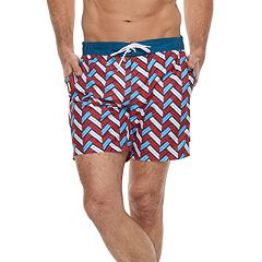 Men's Cole Patterned Hybrid Swim Trunks