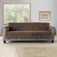Sure Fit Faux Fur Quilted Loveseat Slipcover