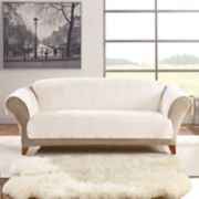 Sure Fit Faux Fur Quilted Sofa Slipcover