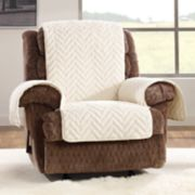 Sure Fit Faux Fur Quilted Recliner Slipcover