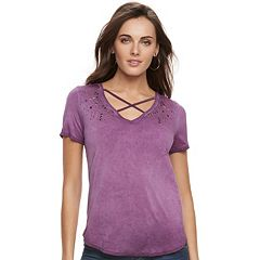 Women's Rock & Republic® Strappy Embellished Tee