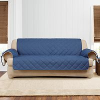 Sure Fit Denim Sherpa Fleece Sofa Furniture Slipcover