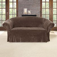 Sure Fit Stretch Plush Cinched Arm Loveseat Slipcover