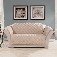 Sure Fit Microfleece Non-Slip Loveseat Slipcover