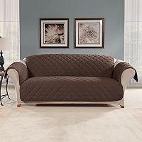 Sure Fit Microfleece Non-Slip Sofa Slipcover