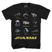 Boys 8-20 Star Wars Ships Tee