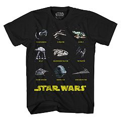 Boys 8-20 Star Wars Ships Tee