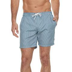 Men's Cole Striped Hybrid Swim Trunks