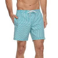 Men's Cole Striped Hybrid Swim Trunks