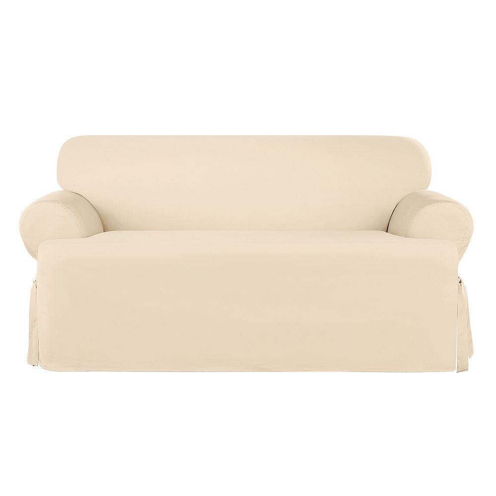 Sure Fit Sailcloth T-Cushion Loveseat Slipcover