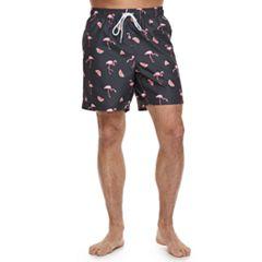 Men's Hot Coals  Flamingo and Watermelon Swim Trunks