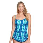 Women's Mazu Swim Shirred Skater Swimdress