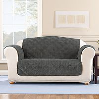 Sure Fit Wide Wale Corduroy Loveseat Slipcover