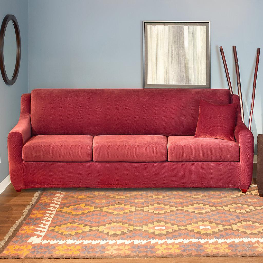 Sure Fit Stretch Pique 4-piece Sleeper Sofa Slipcover   Kohls