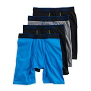 Boys 4-20 Hanes X-Temp 4-Pack Long-Leg Boxer Briefs