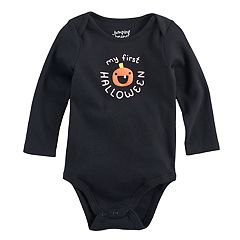 Baby Girl Jumping Beans® 'My First Halloween' Pumpkin Graphic Bodysuit