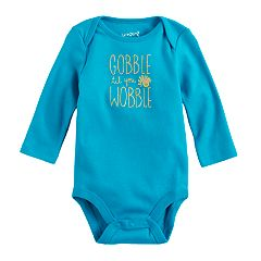 Baby Girl Jumping Beans® 'Gobble Til You Wobble' Thanksgiving Graphic Bodysuit