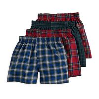Boys 4-20 Hanes Tartan Plaid 4-Pack Boxers