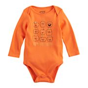 Baby Girl Jumping Beans® 'Happy Halloween' Pumpkin Graphic Bodysuit