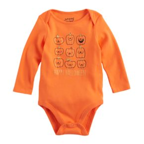 "Baby Girl Jumping Beans® ""Happy Halloween"" Pumpkin Graphic Bodysuit"