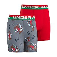 Boys 6-20 Under Armour Santa 2-Pack Boxer Briefs