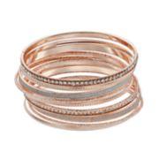 Crystal & Glass Bangle Bracelet Set