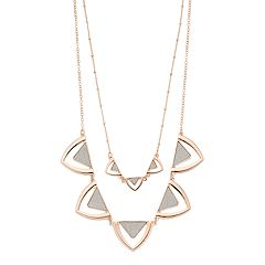 Layered Triangle Link Statement Necklace
