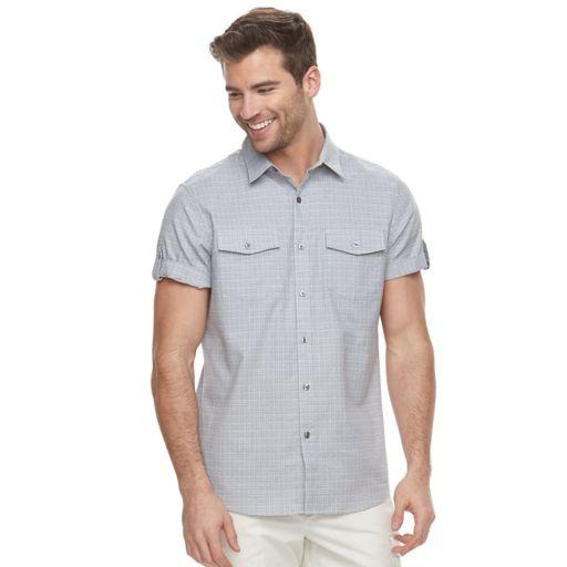 Men's Apt. 9® Premier Flex Slim-Fit Stretch Textured Woven Button-Down Shirt