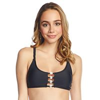 Mix and Match Puka Shell Bralette Swim Top