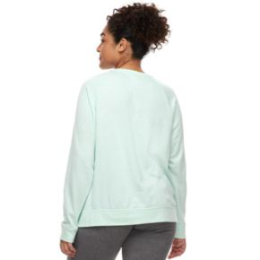 Juniors' Plus Size SO® Lace-Up Sweatshirt