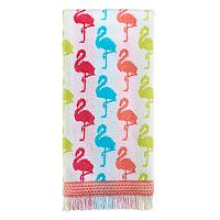 Celebrate Summer Together Flamingo Stripe Hand Towel