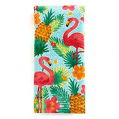 Celebrate Summer Together Flamingo Print Hand Towel