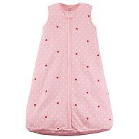 Baby Girl Carter's Dots & Hearts Sleeveless Sleep Bag
