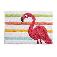 Celebrate Summer Together Flamingo Bath Rug