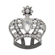 Napier Simulated Crystal Crown Pin