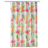 Celebrate Summer Together Flamingo Shower Curtain