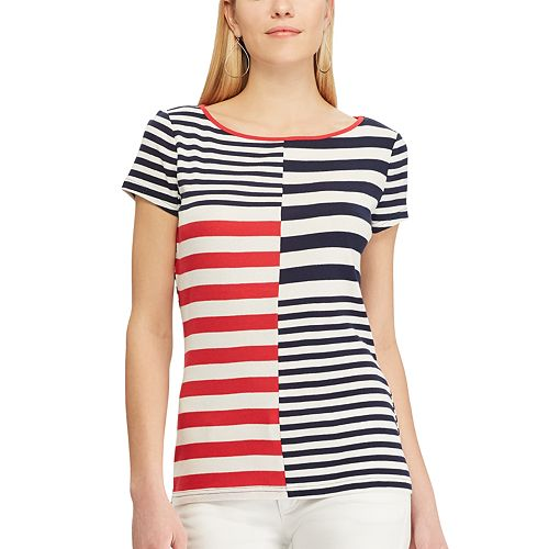Petite Chaps Varied Striped Tee