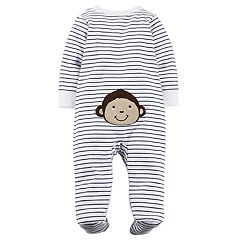 Baby Boy Carter's Monkey Striped Turn Me Around Sleep & Play