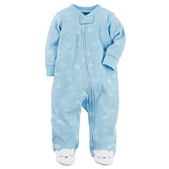 Baby Boy Carter's Clouds Ribbed Sleep & Play