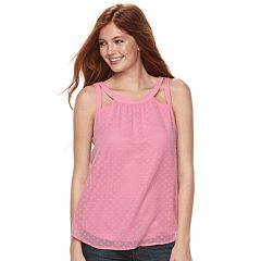 Juniors' Candie's® Halter Cutout Top