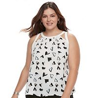 Juniors' Plus Size Candie's® Halter Cutout Top