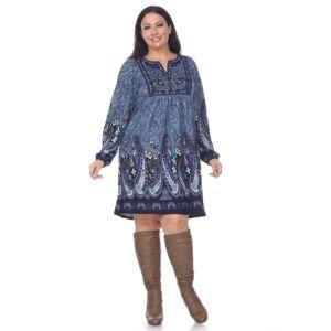 Juniors Plus Size Iz Byer Cutout Shoulder Floral Sweaterdress