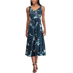 Petite Chaps Floral Print Sleeveless Dress