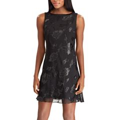 Women's Chaps Sequin Floral Fit & Flare Dress