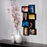 "Melannco Black 8-Opening 4"" x 6"" Wedge Collage Frame"