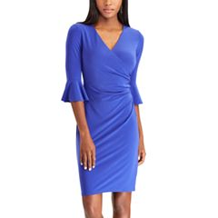Women's Chaps Ruffle-Sleeve Sheath Dress