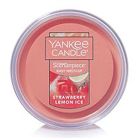 Yankee Candle Strawberry Lemon Ice Scenterpiece Wax Melt Cup