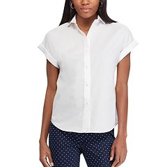 Petite Chaps Cuffed Shirt