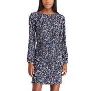 Women's Chaps Floral Crepe Blouson Dress