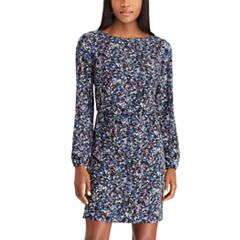 Women's Chaps Floral Crepe Blouson Dress